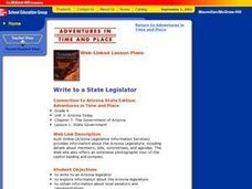 Write to a State Legislator Lesson Plan