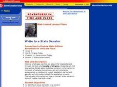Write to a State Senator Lesson Plan