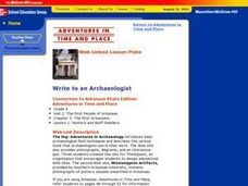 Write to an Archaeologist Lesson Plan