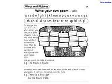 Write Your Own Poem 'ack' Worksheet