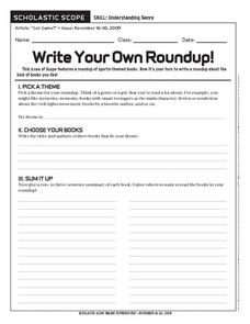 Write Your Own Roundup Worksheet