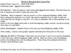 Writer's Workshop Mini-Lesson Plan- Story Sequencing Lesson Plan
