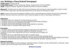 Writing a Class/School Newspaper Lesson Plan