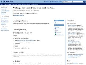 Writing a Fish Book:  Number and Color Details Lesson Plan