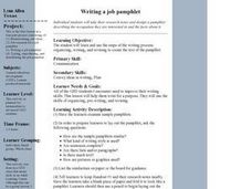 Writing a Job Pamphlet Lesson Plan