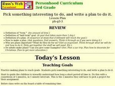 Writing a Plan Lesson Plan