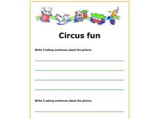 Writing About the Circus Worksheet