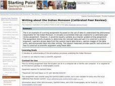 Writing About the Indian Monsoon (Calibrated Peer Review): Lesson Plan