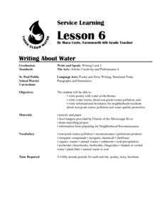 Writing About Water Lesson Plan