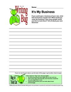 Writing Bug - It's My Business Lesson Plan