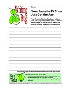 Writing Bug Worksheet