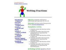 Writing Fractions Lesson Plan