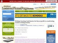 Writing Greeting Card Quotes Lesson Plan