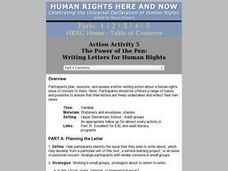 Writing Letters for Human Rights Lesson Plan