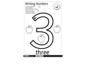 Writing Numbers: 3 Worksheet