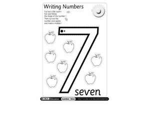 Writing Numbers: 7 Worksheet