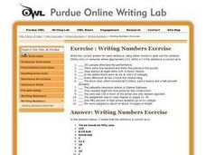 Writing Numbers Exercise Worksheet