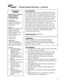 Writing Original Directions Lesson Plan
