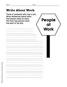 Writing: People at Work Worksheet