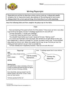Writing Playscripts Lesson Plan