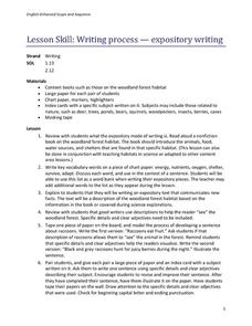process writing lesson plan Writing lesson plans a five paragraph essay - students will create a graphic organizer which they will use to organize their thoughts and writing process.