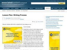 Writing Process Lesson Plan