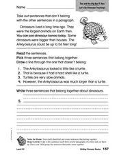 Writing Process: Revise, Topic Worksheet
