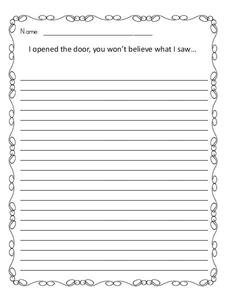 Writing Prompts 3rd Grade Worksheet | Lesson Planet