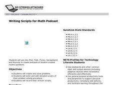 Writing Scripts For Math Podcast Lesson Plan