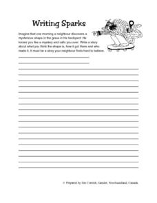 Writing Sparks Story Lesson Plan