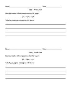 writing task 6 ee 4 item 2 5th 6th grade worksheet lesson planet. Black Bedroom Furniture Sets. Home Design Ideas
