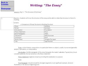 analytical essay lesson plans Lesson plans  e238 text analysis essay example  a text analysis paper will  focus upon an area of the work that you find interesting, significant, or feel merits .
