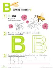 Writing the Letter B Worksheet