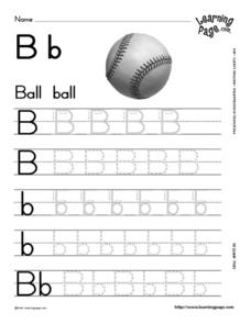 Writing the Letter Bb Worksheet