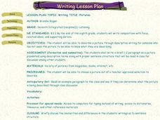 Writing TITLE: Pictures Lesson Plan