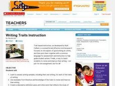 Writing Traits Instruction Lesson Plan