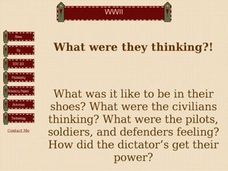 WWII: What Were They Thinking? Lesson Plan