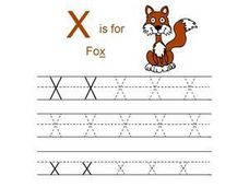 X is for Fox Worksheet