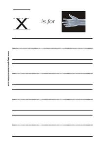X is for X-ray Worksheet