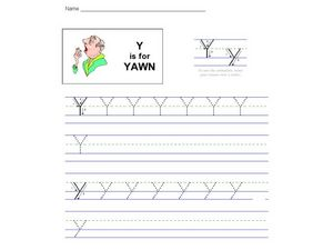 Y Is For Yawn Worksheet