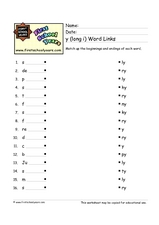 Y Long I Word Links Worksheet