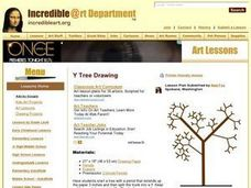 """Y Tree"" Drawing Lesson Plan"