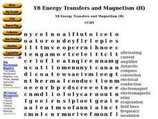 Y8 Energy Transfers and Magnetism (H) Worksheet