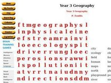 Year 3 Geography Worksheet