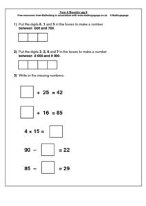 Year 6 Booster pg. 8 Worksheet