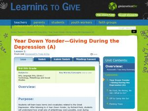 Year Down Yonder -- Giving During the Depression Lesson Plan