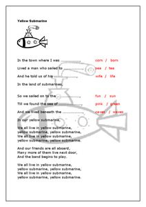 Yellow Submarine Worksheet