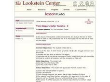 Yom Kippur (Sefer Yonah) Lesson Plan