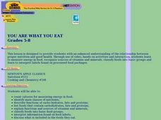 You Are What You Eat (Grades 5-8) Lesson Plan