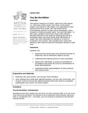 You Be the Editor Lesson Plan